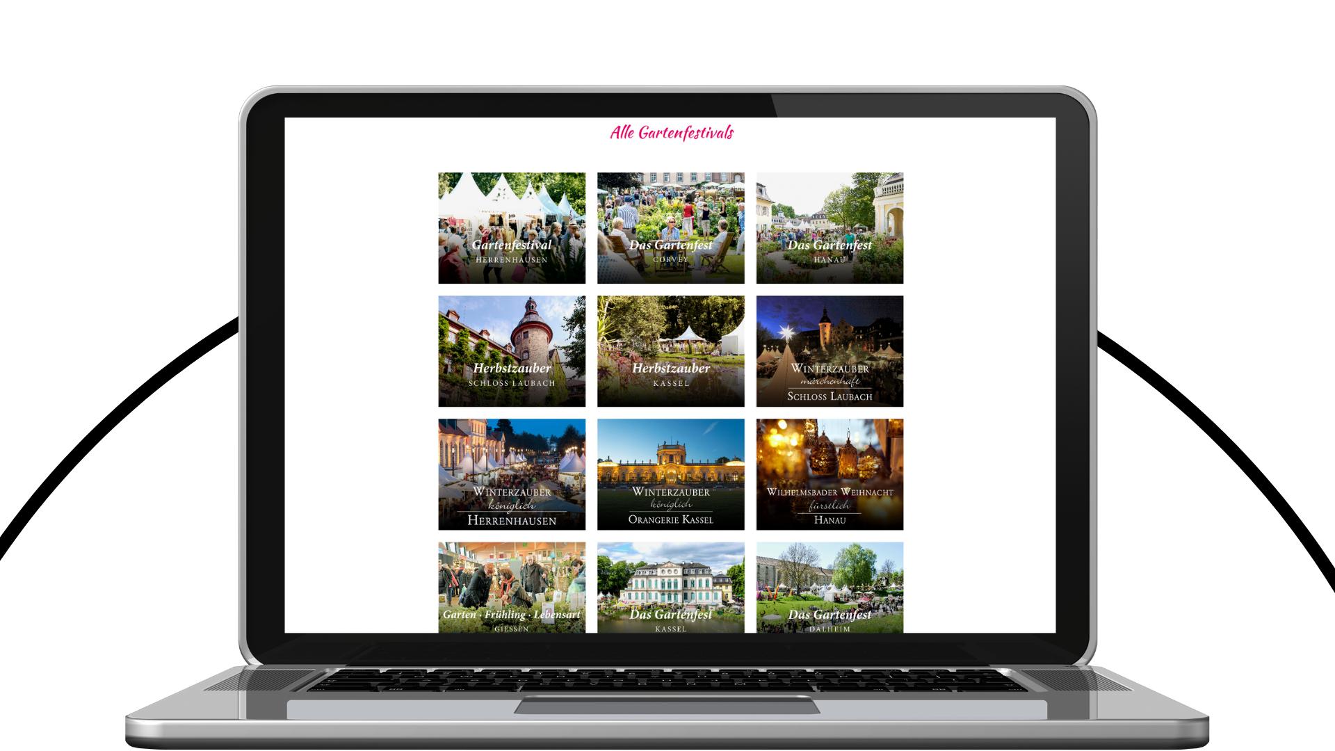 Gartenfestivals Webseite