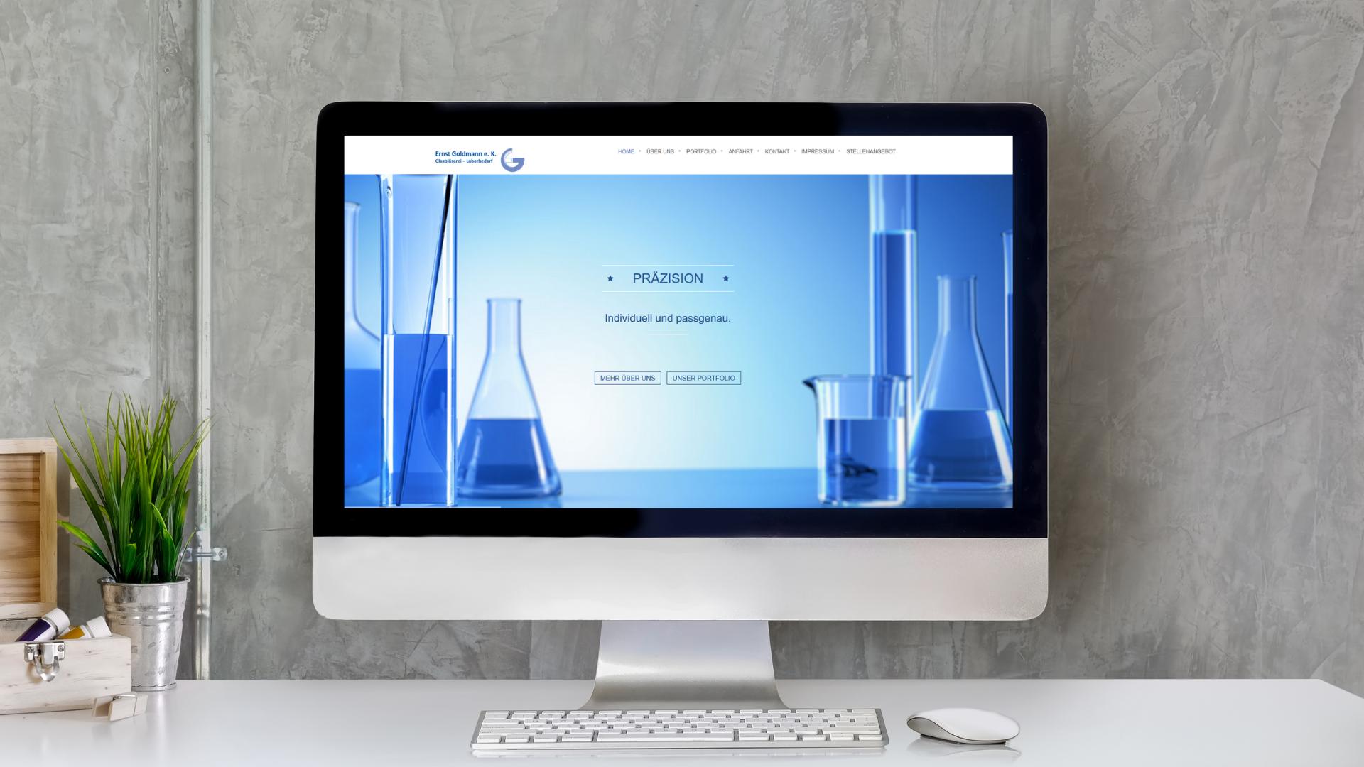 Webseite Goldmann